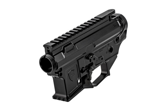 The Fortis Manufacturing License Ambidextrous AR15 receiver features a black anodized finish