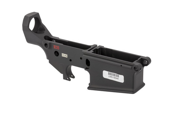 LMT stripped AR10 MWS lower receiver is cut from high strength 7075-T6 aluminum with a tough hardcoat anodized finish