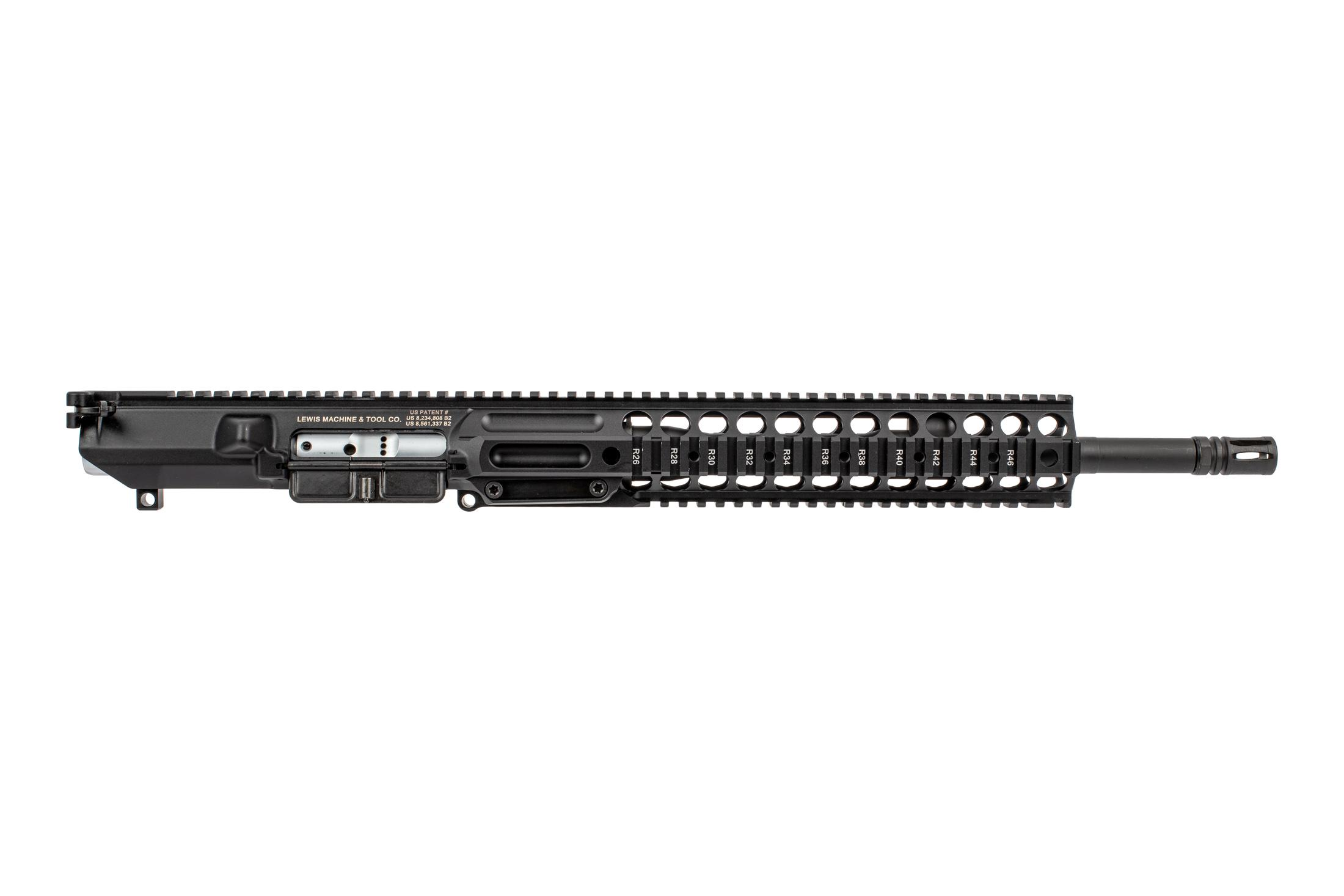 Lewis Machine & Tool CQBMWS AR10 complete upper receiver features a quick change barrel system