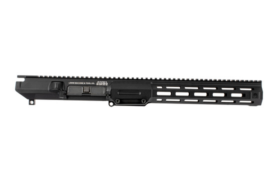 The Lewis Machine & Tool MWS AR10 upper receiver M-LOK rail features a quick change barrel function