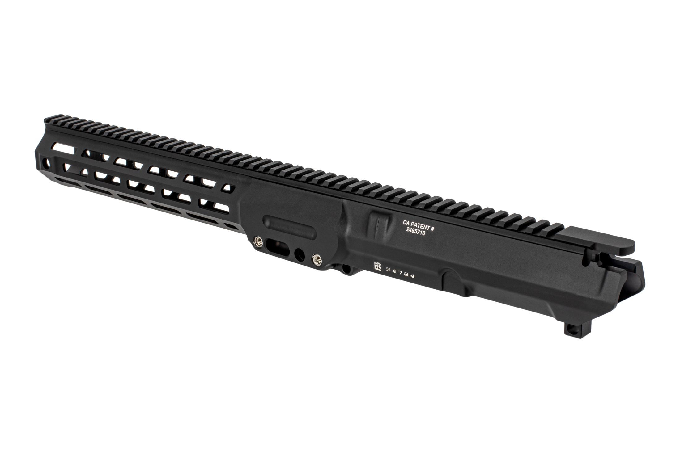 The Lewis Machine Tool MWS 308 upper receiver features a proprietary barrel nut system