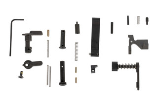 The Lewis Machine and Tool AR15 lower parts kit without grip allows you to finish your build with your favorite trigger