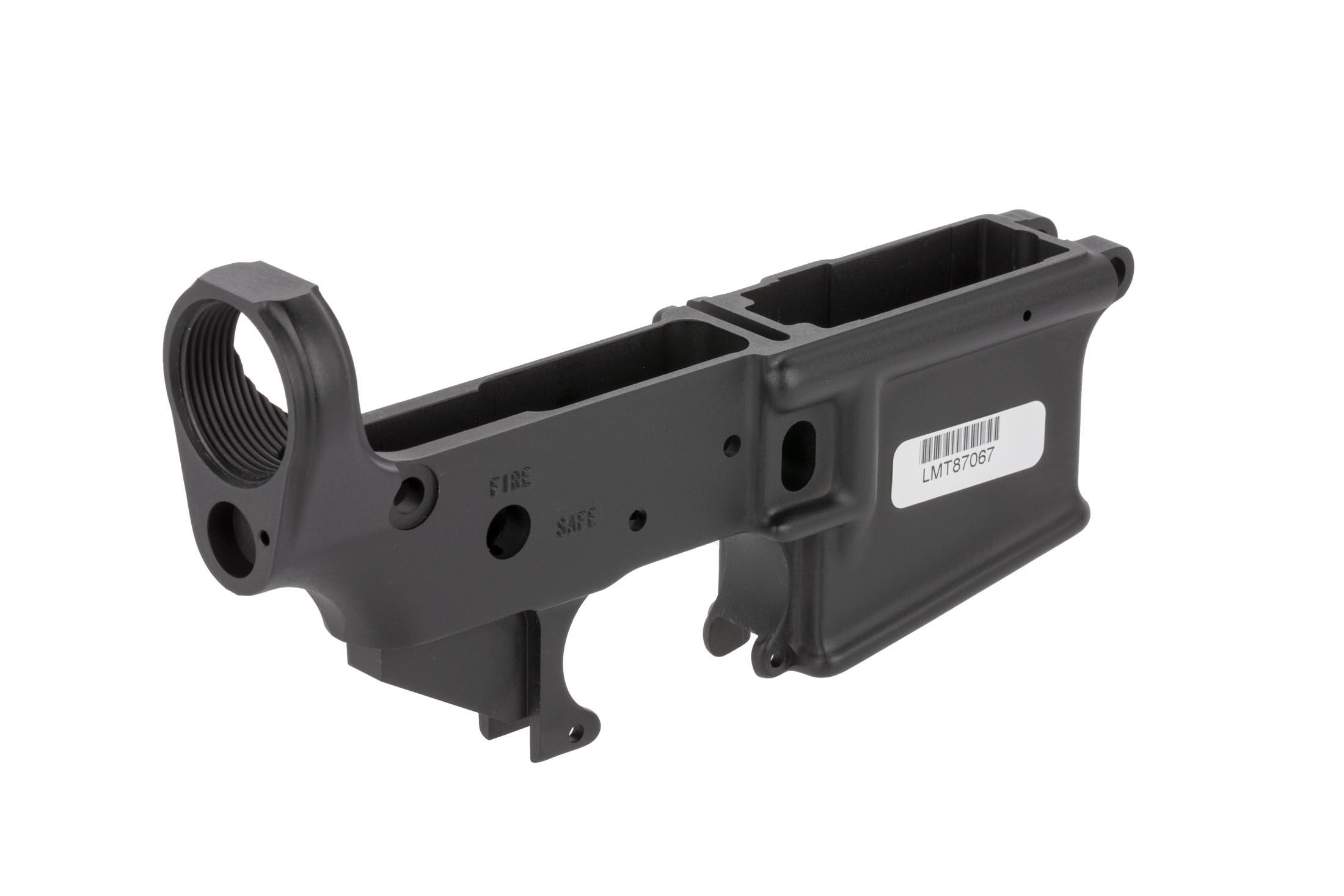 The Lewis Machine & Tool Defender stripped ar-15 lower receiver is forged out of 7075 aluminum