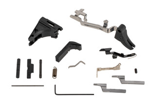 Lone Wolf Polymer 80 lower parts kit includes everything you need to fully assemble a stripped Compact Glock frame.