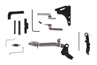 Lone Wolf Polymer 80 lower parts kit includes everything you need to fully assemble a stripped Glock frame.
