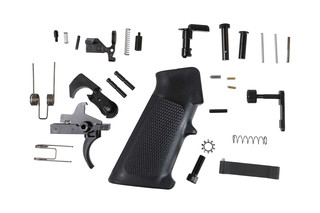 This Cheap Anderson AR15 Lower Parts Kit with a Black Hammer and Trigger and all you need to finish your ar15 lower receiver