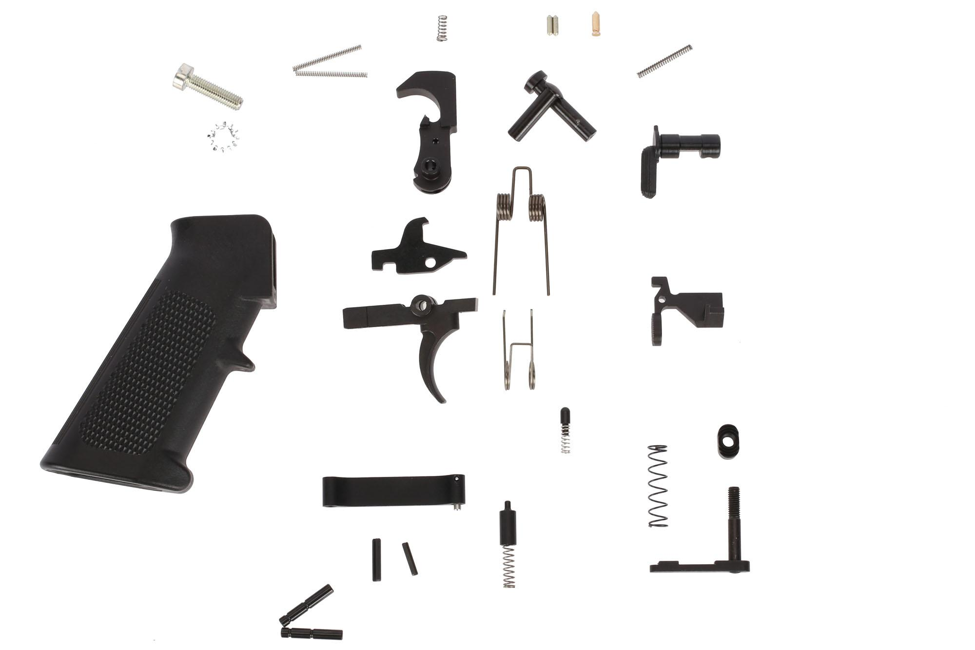 Guntec USA Complete AR-15 Lower Parts Kit with A2 Pistol Grip
