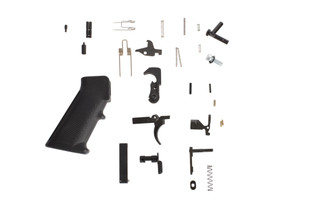 Luth-AR complete AR-15 lower parts kit includes MIL-SPEC components, an A2 pistol grip, and standard single stage trigger.