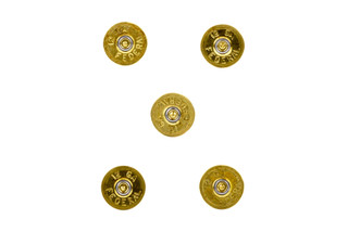 Lucky Shot 12 gauge brass magnets are made from once-fired shotgun shells to add some serious flair to your fridge