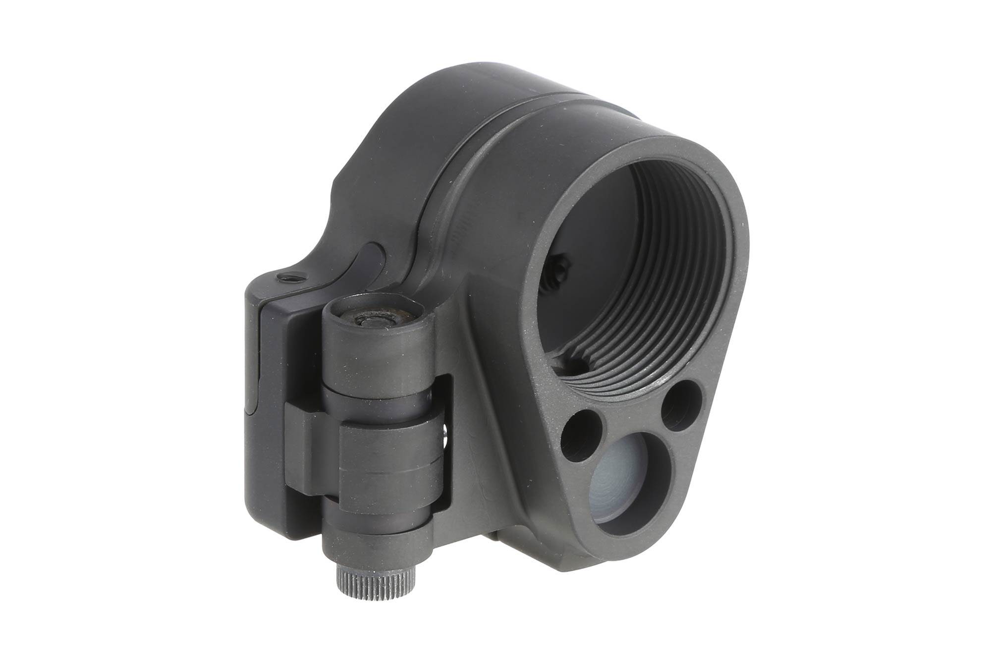 The Law Tactical AR Folding Stock Adapter Gen 3-M for ar15 and ar308 in the folded position adds to your length of pull