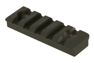 The Timber Creek Outdoors 5 slot picatinny rail is M-Lok compatible and features an OD Green Cerakote finish