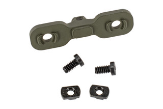 The Timber Creek Outdoors M-LOK Bipod Adapter comes in OD Green and is compatible with Harris Bipods