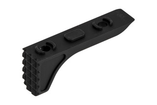 The Timber Creek Outdoors M-LOK Rugged Barricade Stop features a black anodized finish