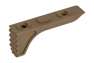 The Timber Creek Outdoors M-LOK Rugged Barrier Stop features a Flat Dark Earth Cerakote finish