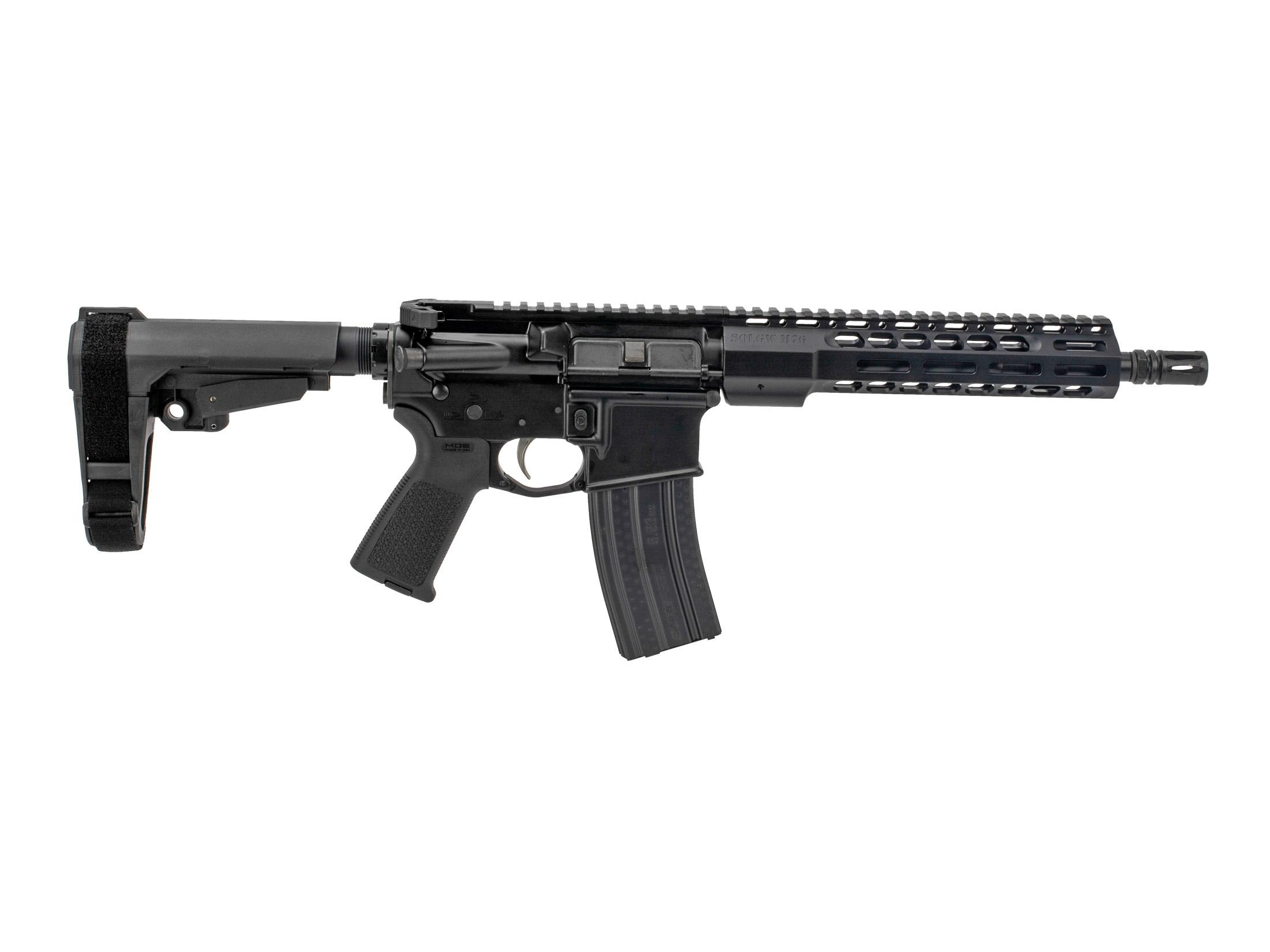 Sons of Liberty Gun Works M4-76 5.56 AR-15 Pistol with SBA3 - 10.5