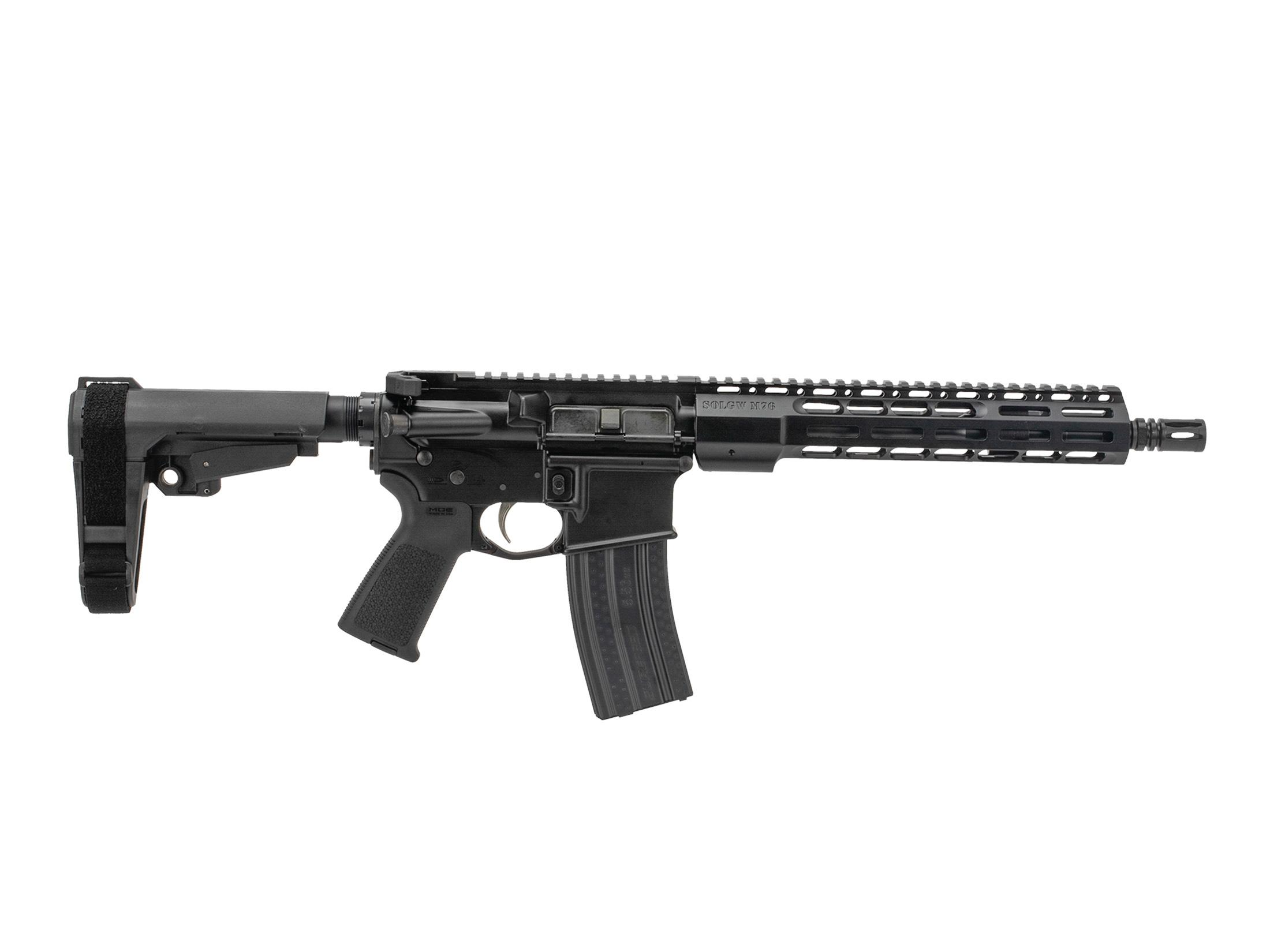 Sons of Liberty Gun Works M4-76 5.56 AR-15 Pistol with SBA3 - 11.5