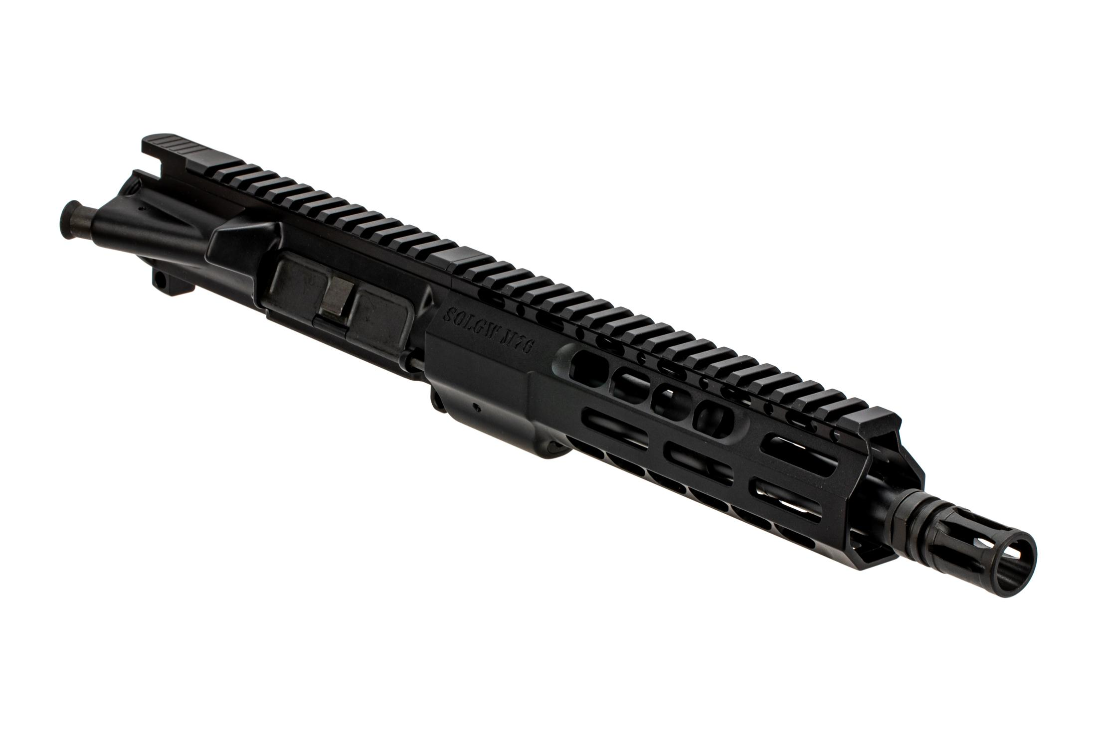 Sons of Liberty Gun Works 9 M4-76 barreled AR-15 upper receiver in 300 blk with A2 flash hider.