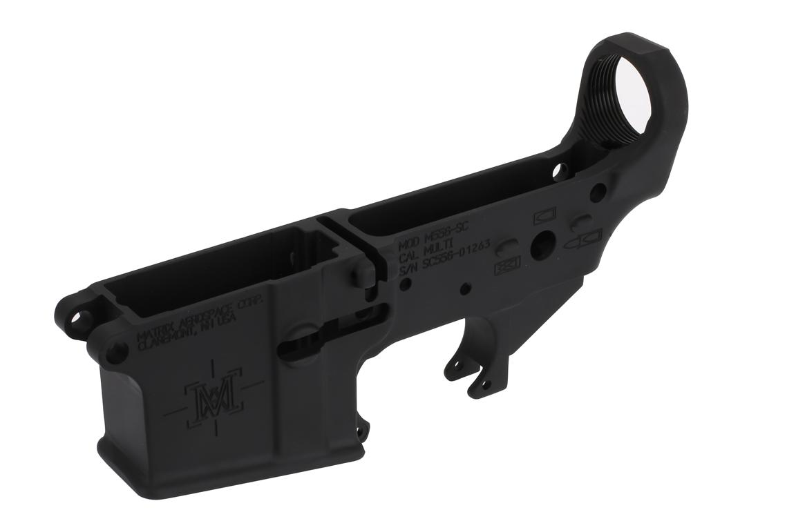 The Matrix Arms AR-15 stripped lower is forged from 7075-T6 aluminum