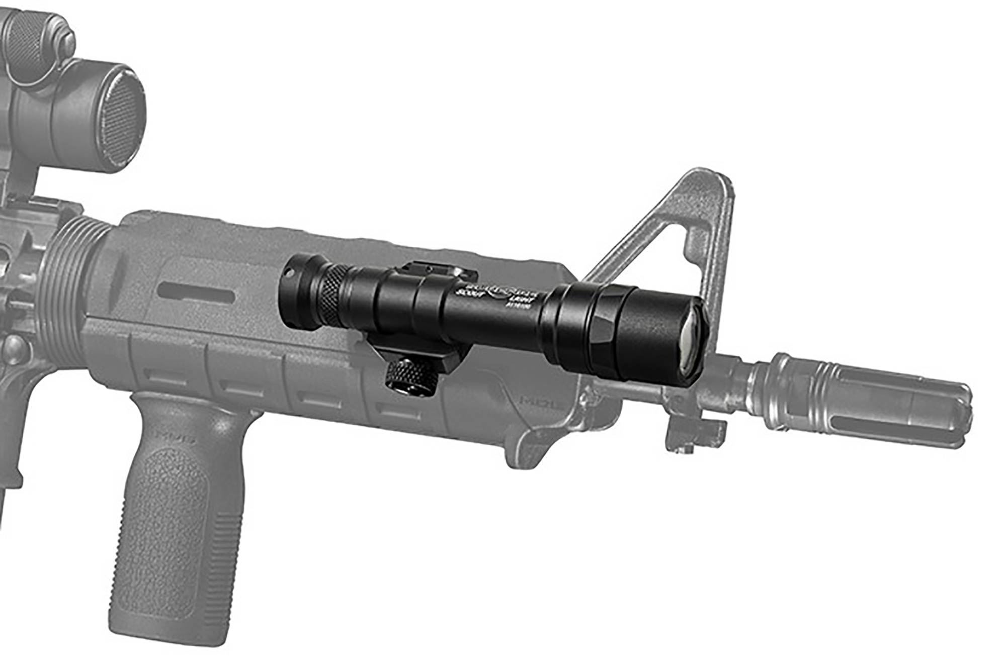The SureFire M600 Ultra Scout Light features an integrated picatinny rail for mounting on your rifle