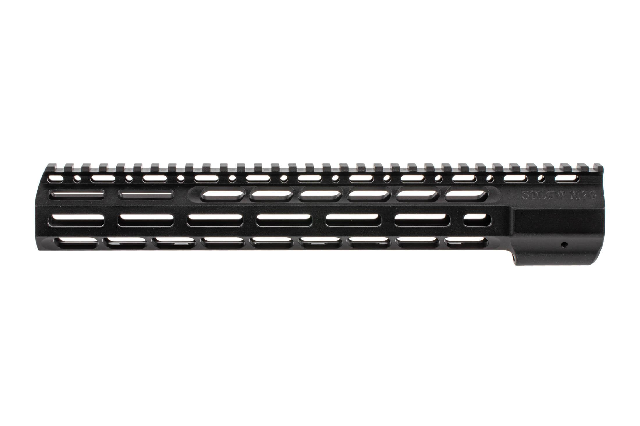 The Sons of Liberty Gun Works M76 Handguard features a black hardcoat anodized finish
