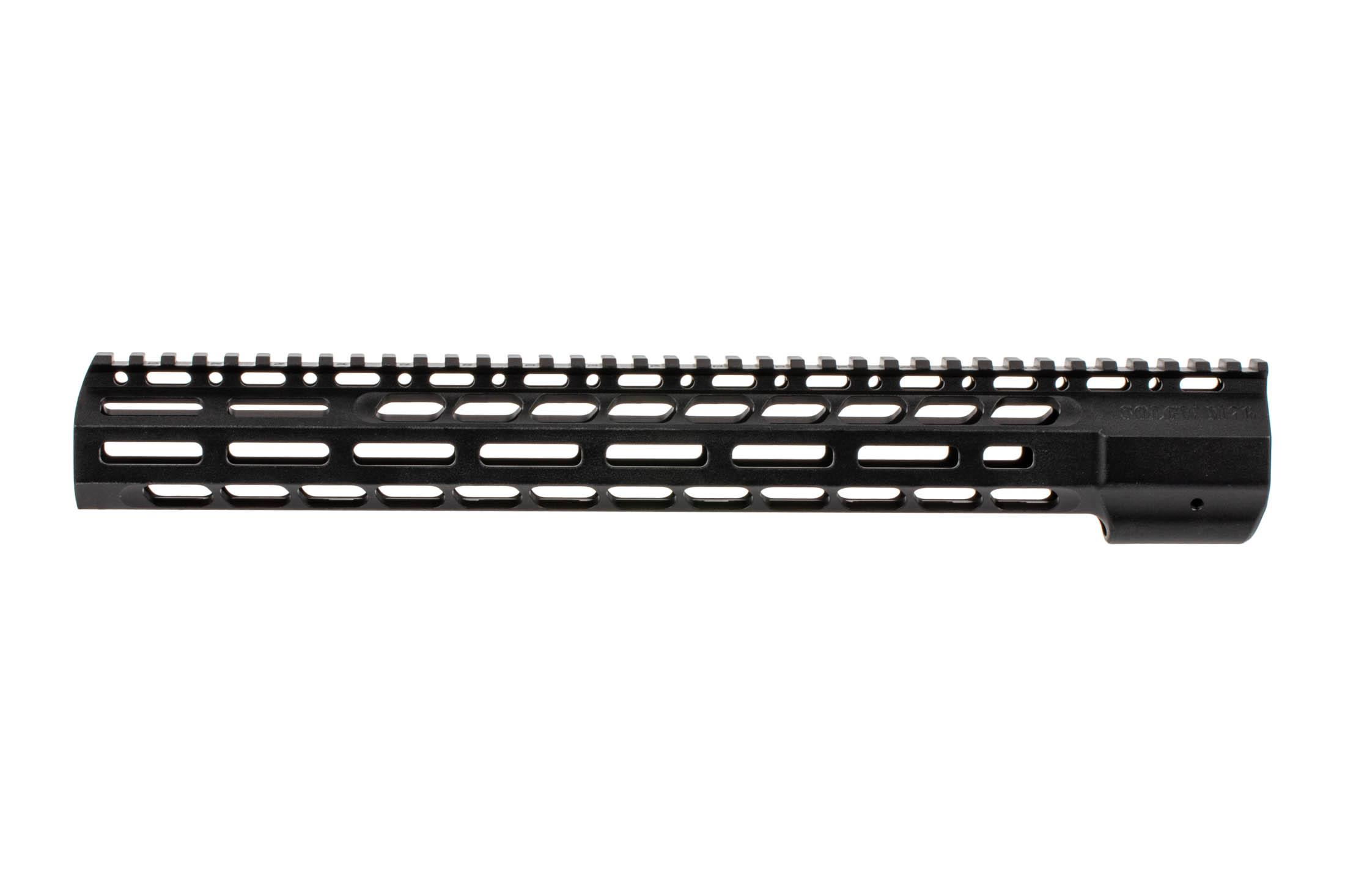 The Sons of Liberty Gun Works M76 free float handguard features a full length picatinny top rail