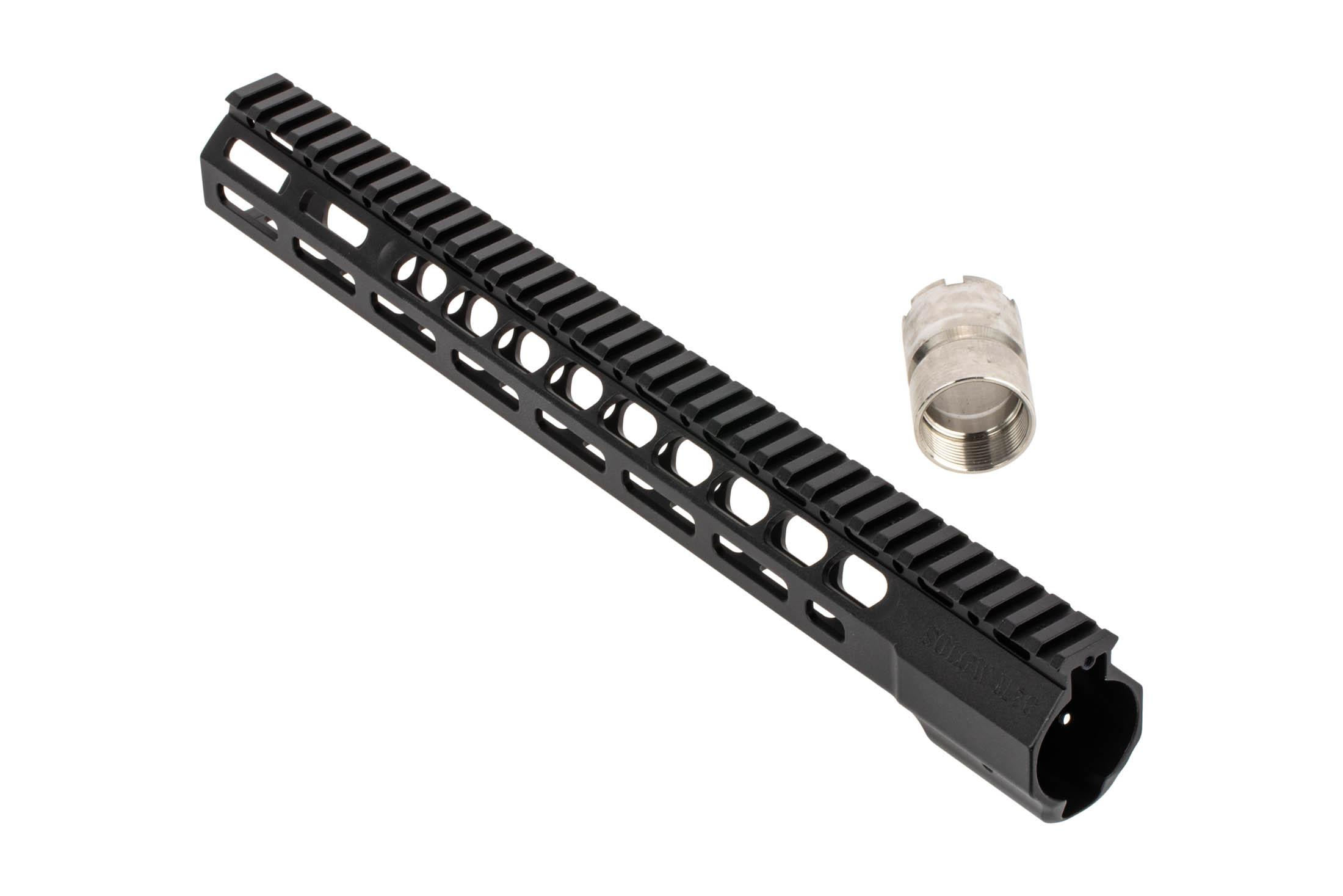 The Sons of Liberty Gunworks wedgelock M76 handguard comes with a 4140 steel barrel nut