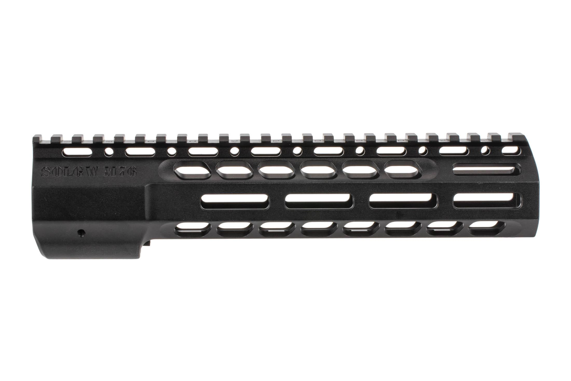 The Sons of Liberty Gun Works M76 Wedgelock Handguard 9.5 features M-LOK attachment slots