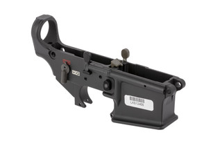 The Lewis Machine and Tool MARS-L stripped AR-15 lower receiver has a fully ambidextrous safety selector