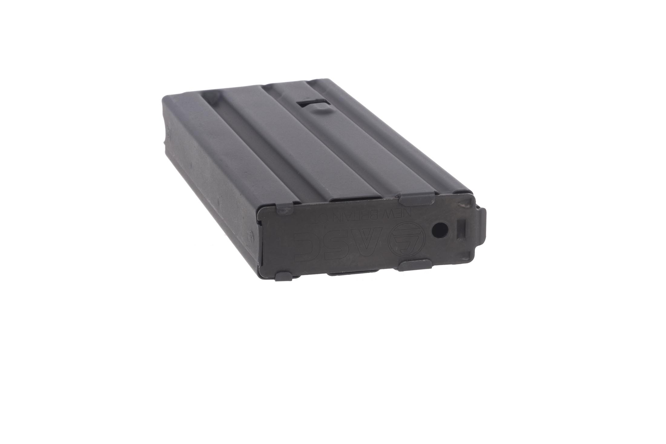 Radical Firearms 12-round aluminum magazine for .450 Bushmaster magazine is produced by Ammunition Storage Components.