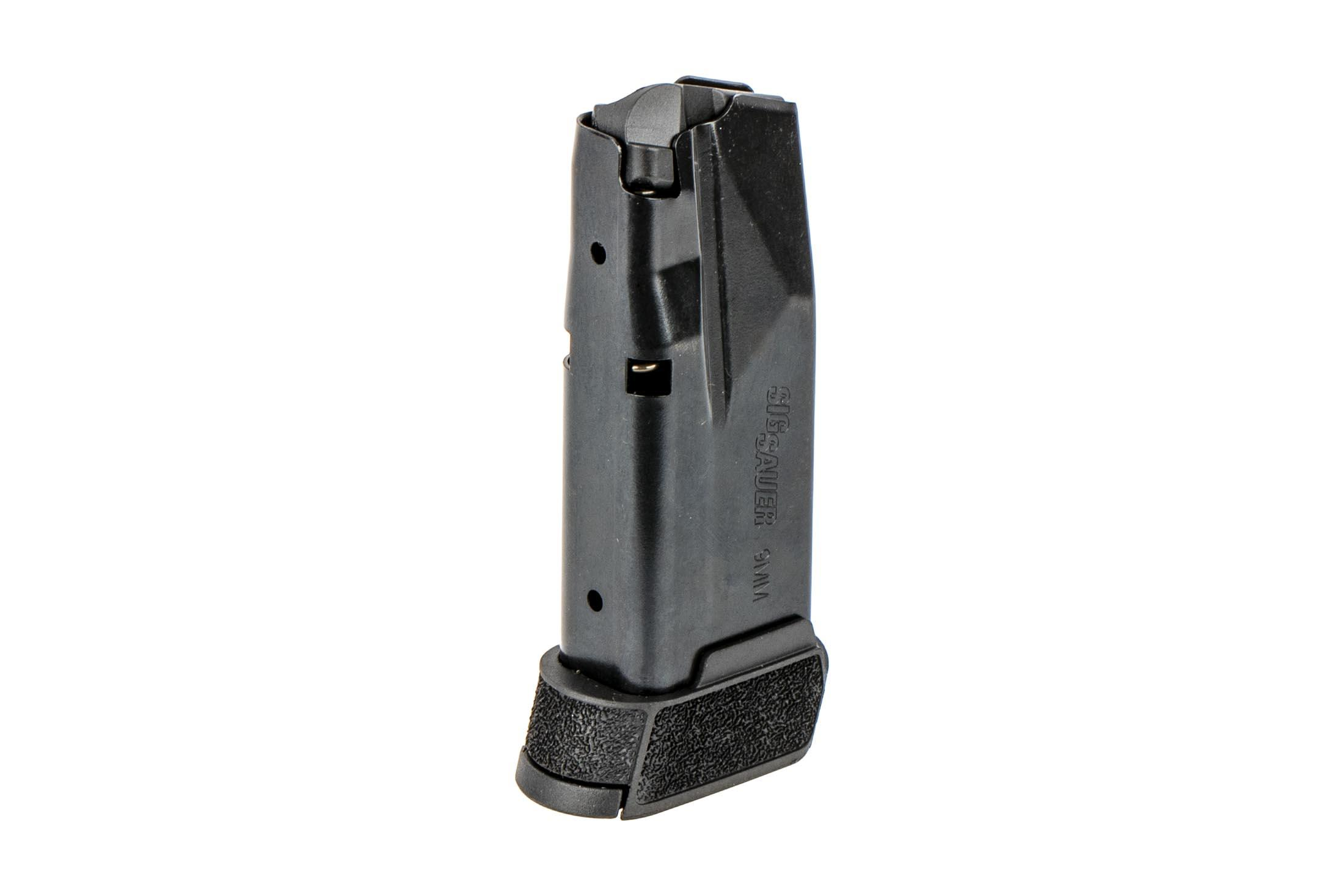 The Sig Sauer P365 Magazine holds 12 rounds of 9mm ammunition