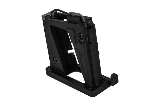 The Stern Defense AR15 9mm beretta magazine conversion kit features an ergonomic mag release button