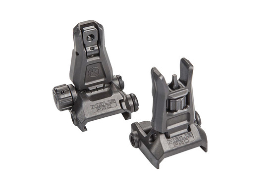 Magpul MBUS PRO Sight Set is made from steel and features a low profile design