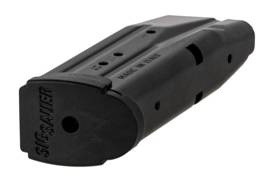 The Sig P320 Sub Compact 12 round magazine features a flush fit polymer base pad