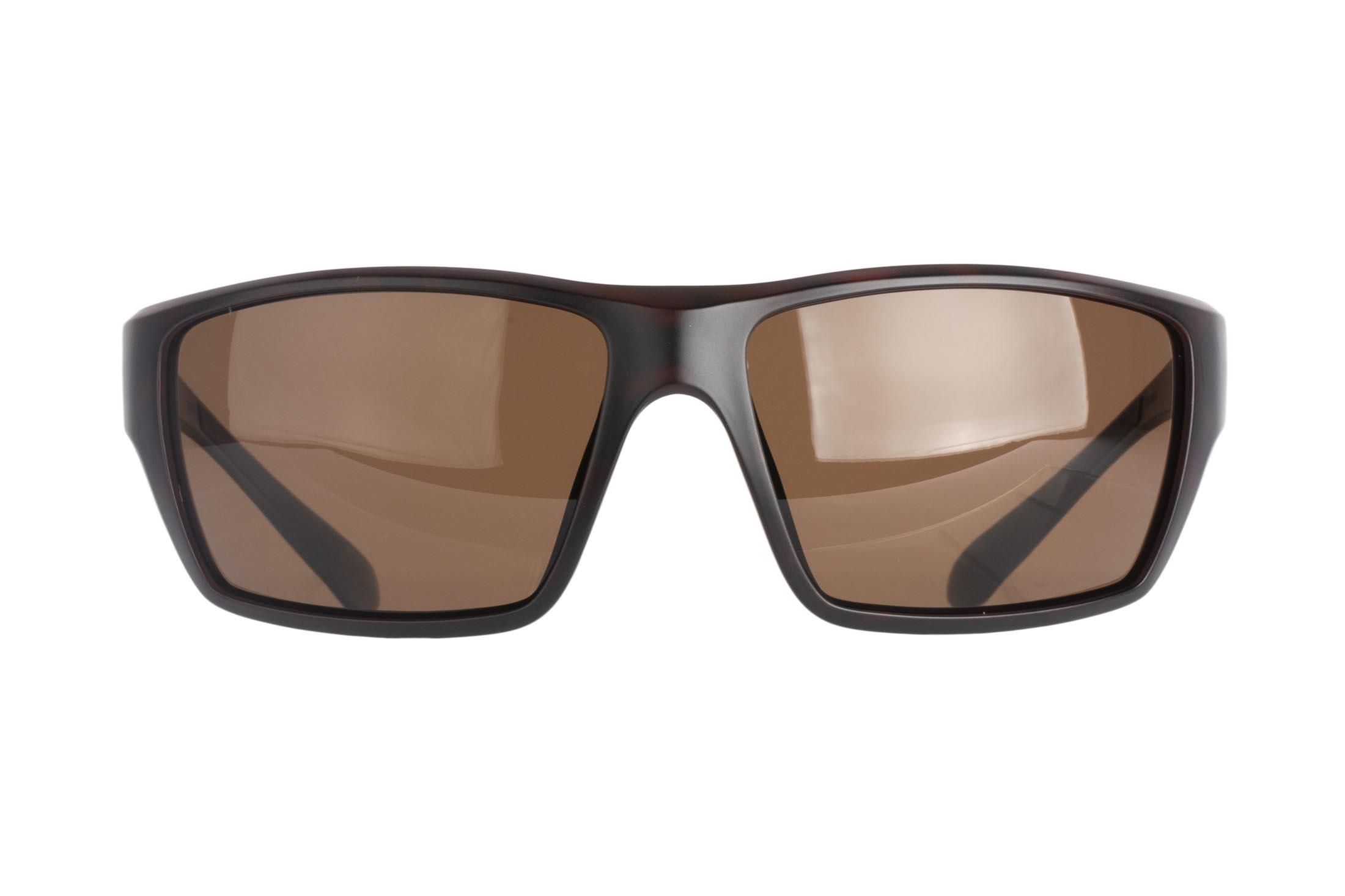 Magpul Terrain safety glasses tortoise frame and bronze polarized lenses are made from TR90ZZ theromplastic for exceptional durability