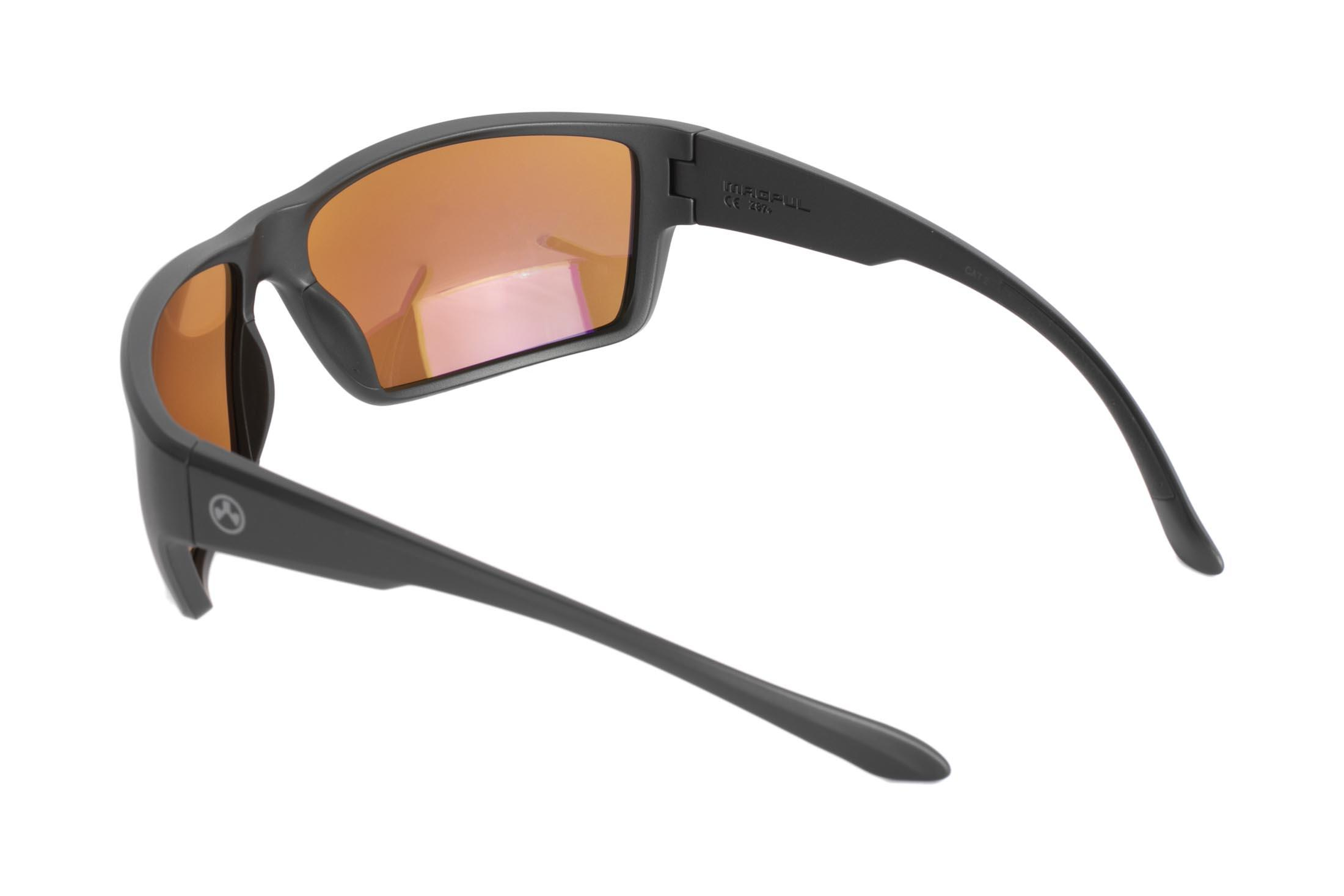 d57779466a ... Magpul Terrain black frame eye protection with polarized rose blue  lenses are designed to complement ...