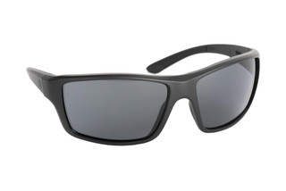 Magpul Summit ballistic sunglasses with black frame and polarized gray lenses are ideal for medium-to-large sized shooters
