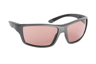 Magpul Summit ballistic sunglasses with gray frame and polarized rose lenses are ideal for small-to-medium sized shooters