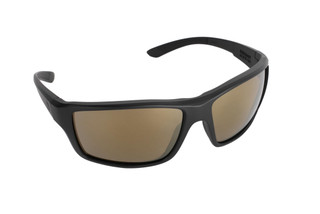 Magpul Summit ballistic sunglasses with black frame and bronze/gold polarized lenses are ideal for small-to-medium sized shooters