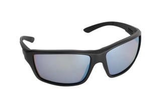 Magpul Summit ballistic sunglasses with black frame and rose/blue polarized lenses are ideal for small-to-medium sized shooters