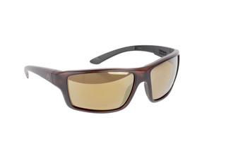 Magpul Summit ballistic sunglasses with gray frame and Bronze / Gold polarized lenses are ideal for small-to-medium sized shooters