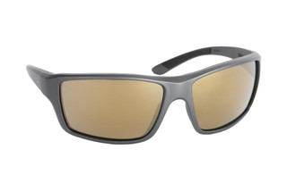 Magpul Summit ballistic sunglasses with gray frame and polarized bronze/gold lenses are ideal for small-to-medium sized shooters