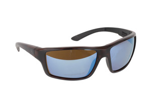 Magpul Summit ballistic sunglasses with gray frame and Bronze / Blue polarized lenses are ideal for small-to-medium sized shooters