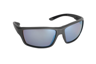 Magpul Summit ballistic sunglasses with gray frame and rose/blue polarized lenses are ideal for small-to-medium sized shooters