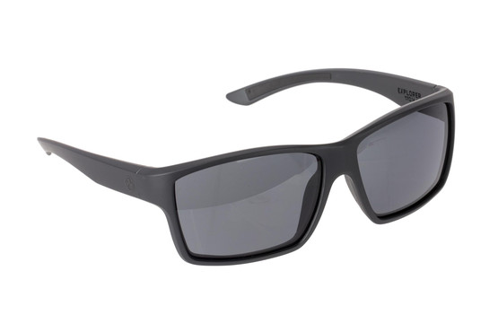 Magpul Summit ballistic sunglasses with Black frame and Gray lenses are ideal for small-to-medium sized shooters