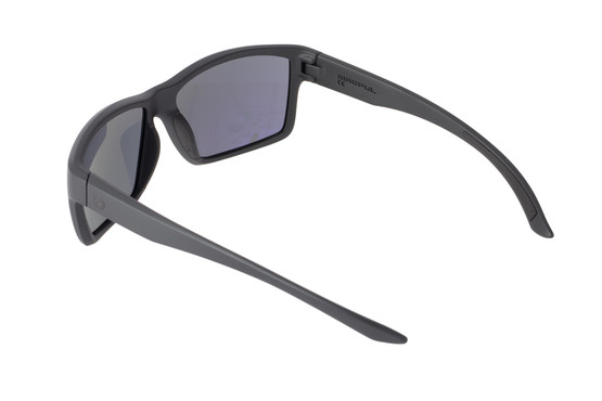 Magpul Summit Black frame eye protection with Gray lenses are designed to complement over-ear hearing protection