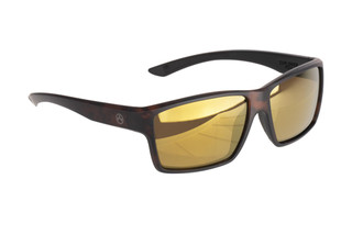 Magpul Explorer ballistic sunglasses with tortoise frame and polarized bronze/gold lenses are ideal for medium-to-large sized shooters