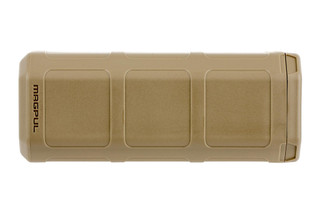 The Magpul DAKA Can in flat dark earth is made from durable polymer with a cloth lined interior