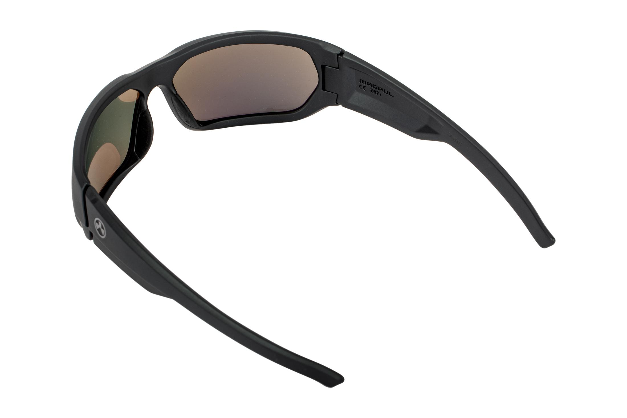 Magpul Industries Radius safety glasses feature a polarized gray lens
