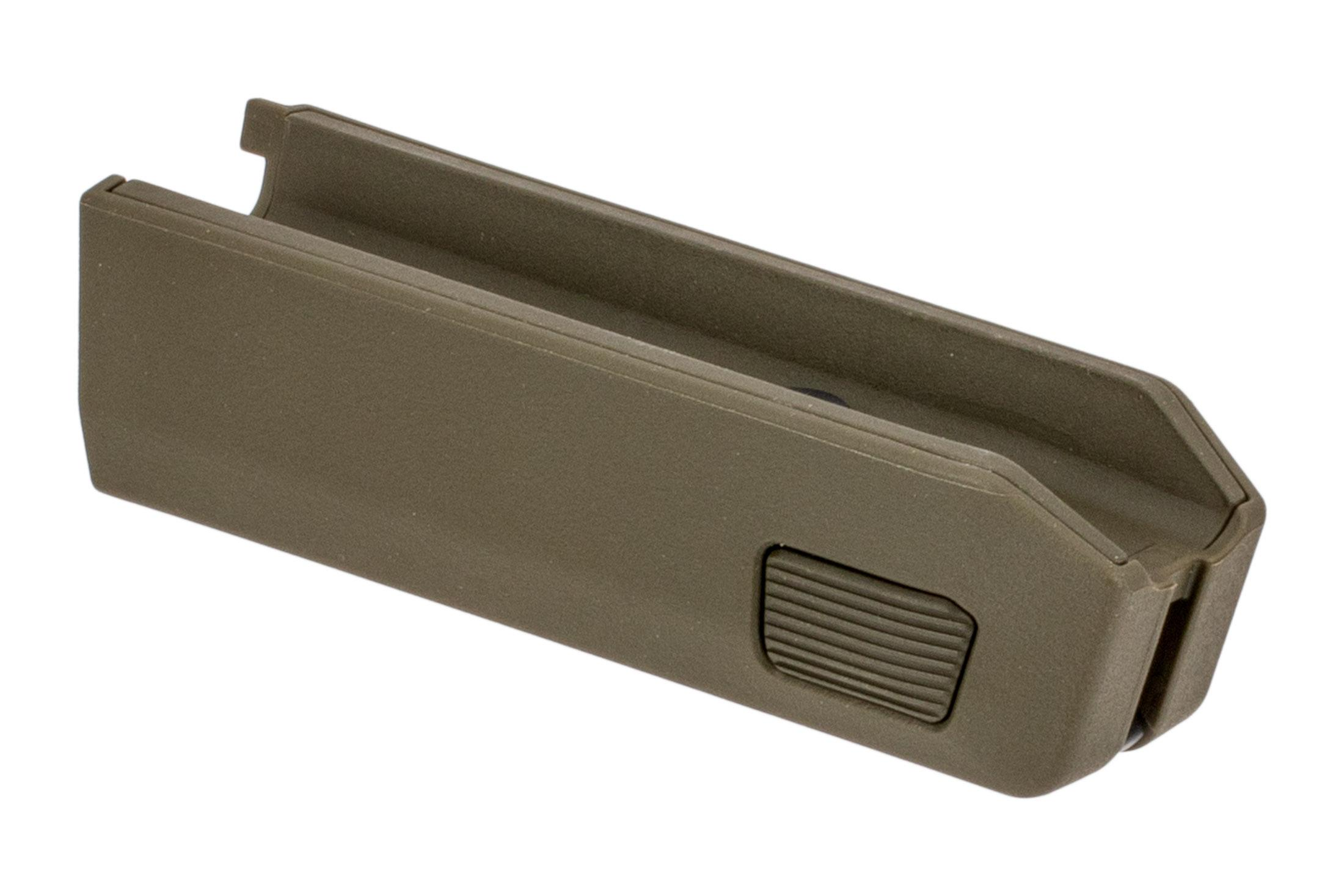 Magpul Backpacker X22 Takedown forend is made from olive drab green polymer
