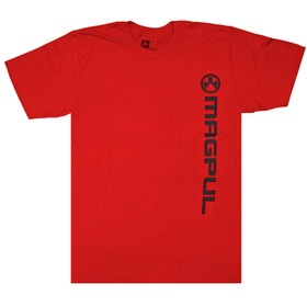 Magpul Vertical Logo Short Sleeve T-Shirt in Red